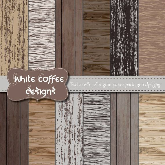 Distressed Wood Paper Scrapbook Paper Rustic Old Wood Brown