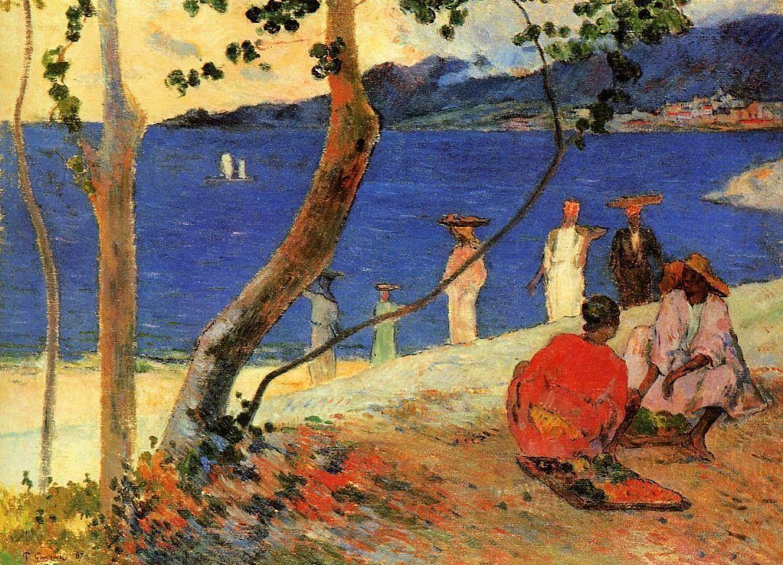 Paul Gauguin - A seashore (1887)