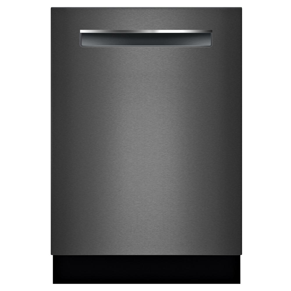 Bosch 800 Series 24 In Black Stainless Top Control Tall Tub Dishwasher With Stainless Steel Tub Crystaldry 42dba Shpm78z54n The Home Depot Steel Tub Black Dishwasher Built In Dishwasher