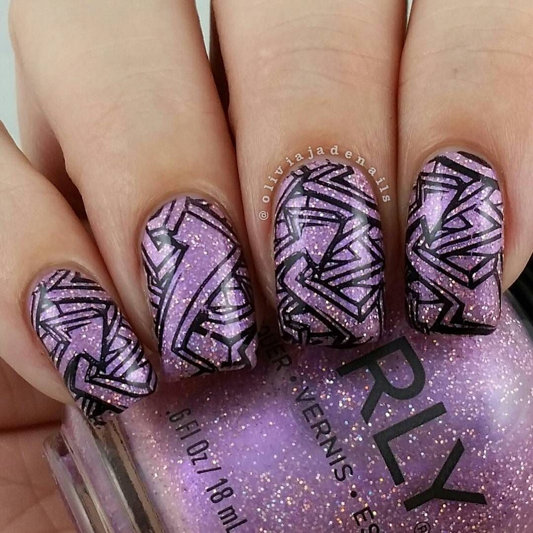 Over on my blog today I have swatches and a review of @orlynails Melrose Collection. Definitely some stunners in this collection. Polish used for this mani is #orly Feel The Funk. Stamping design is by @bundlemonster. #bundlemonster #notd #nails #nailpolish #nailart #nailartaddict #aussienails by oliviajadenails