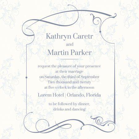9151c22851 Klasszikus design oldal. Sablon kártyák. Esküvői meghívó ...