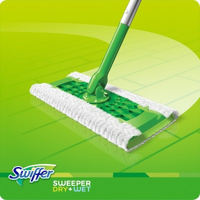 Swiffer Sweeper Dry Wet All Purpose Floor Mopping And Cleaning Starter Kit With Heavy Duty Cloths Includes 1 Mop 10 Refills In 2020 Wet Mops Swiffer Clean Hardwood Floors