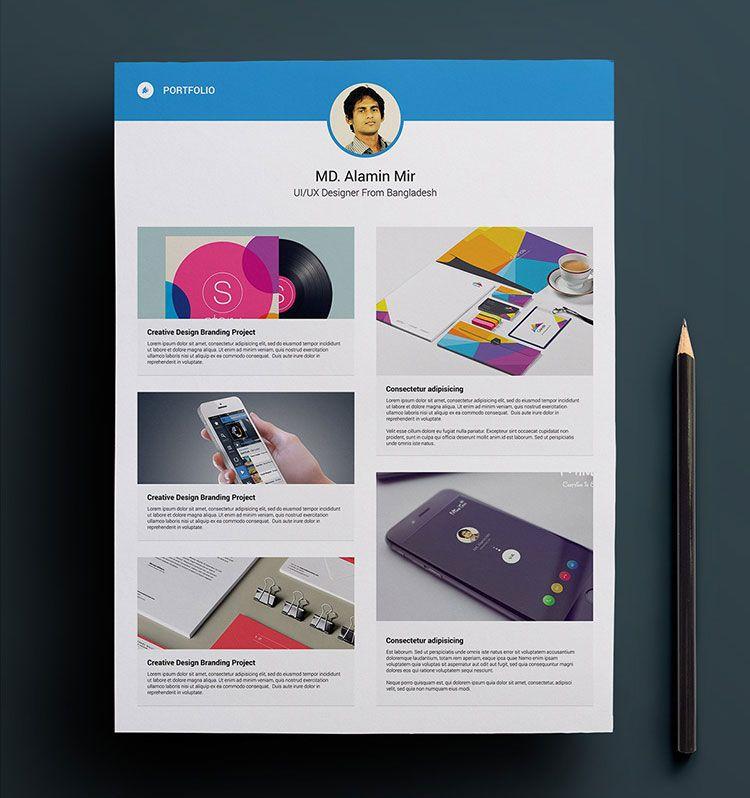Free-Resume-Template-Portfolio-Design-PSD | Resume PSD | Pinterest