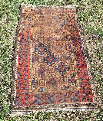 Antique Turkish Anatolian Red Navy Brown Tan Carpet Rug Runner 51 X28 5 Yqz Rugs On Carpet Rugs Rug Runner