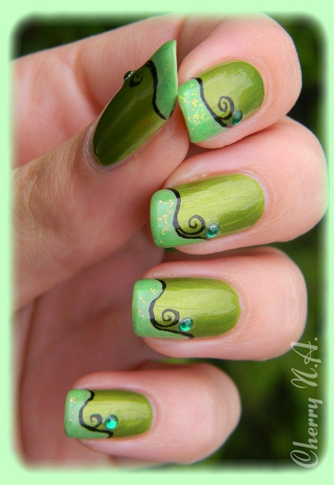 shades of springtime green | Nail Art❤Holidays♡Seasons | Pinterest ...