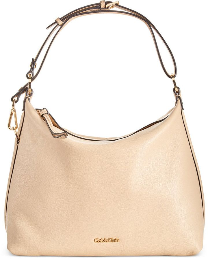 calvin klein pebble leather hobo a macy s exclusive style woman s