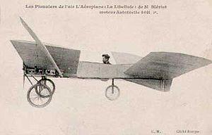 """El Blériot VI """"Libellule"""" ( """"Dragonfly""""), fue construido en 1907 y fue una de las series de avión experimental construido por Louis Blériot , que finalmente llevó a la Blériot XI aeronave en la que se realizó el primer vuelo a través del Canal Inglés"""