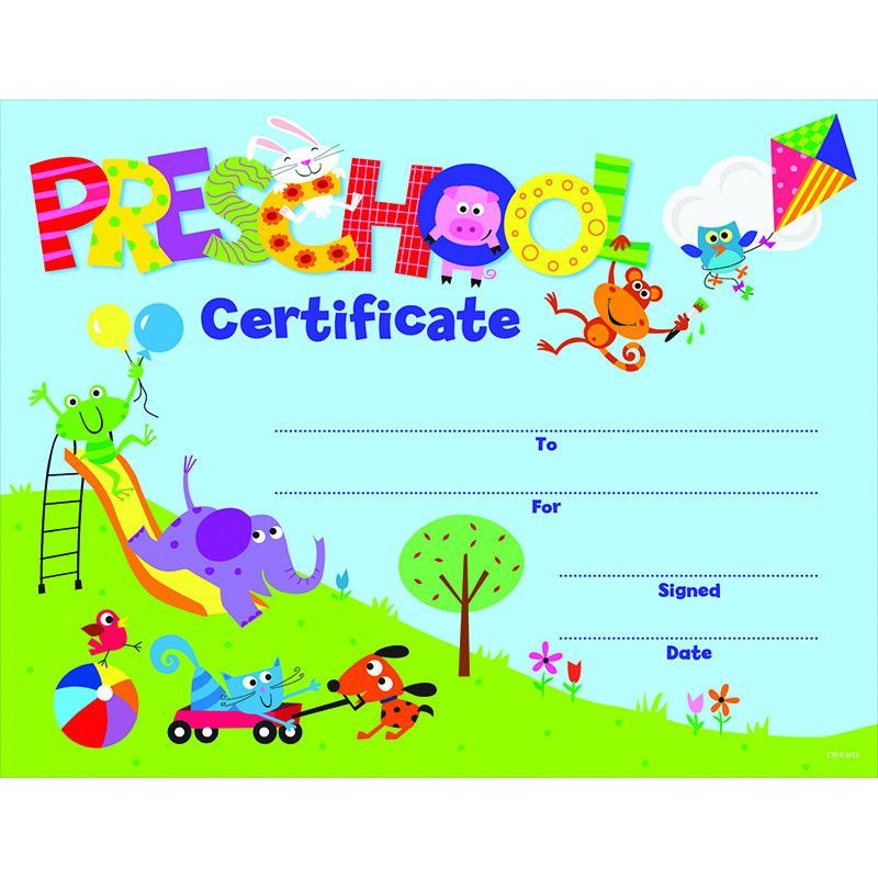 Kindergarten Awards Certificates: PRESCHOOL CERTIFICATE AWARDS