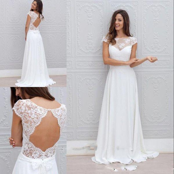 Cheap Hot Modest Boho Beach Wedding Dresses Backless 2016 China Lace ...