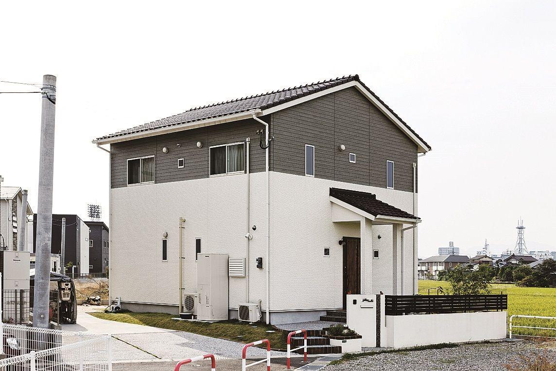 行橋市 S様邸 総二階 窓 デザイン 切妻屋根