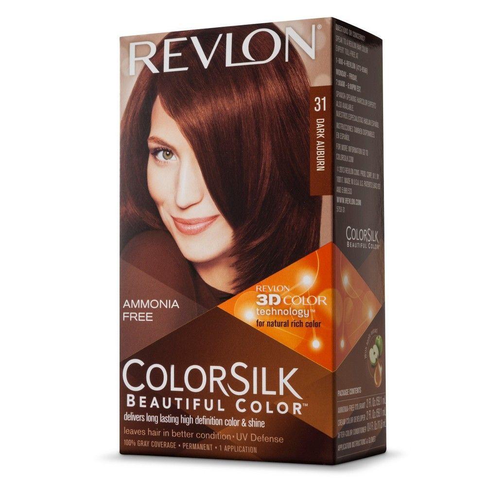 Revlon Colorsilk Hair Color 31 Dark Auburn Revlon Colorsilk Revlon Colorsilk Hair Color Beautiful Hair Color