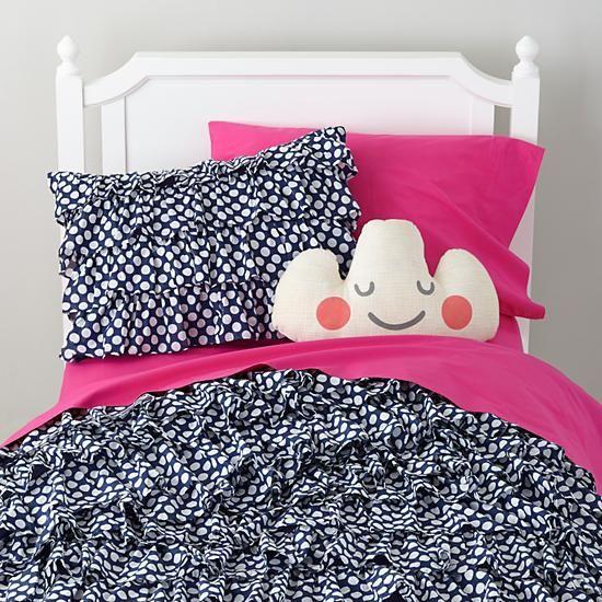 Preppy Polka Dot Bedding In Girl Bedding | The Land Of Nod