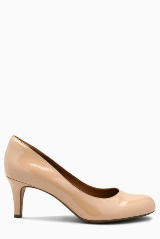 429e0bba8 Buy Clarks Nude Patent Arista Abe Mid Heel Court Shoe from the Next UK  online shop