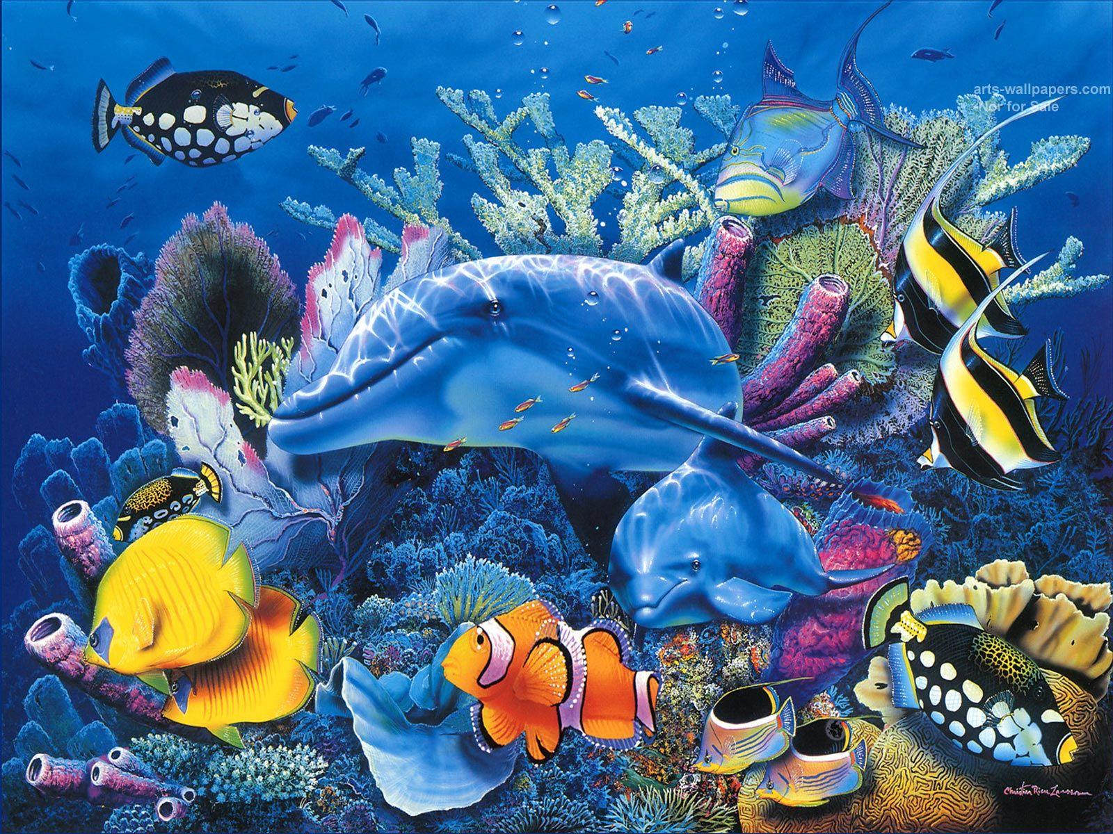 Christian Art Christian Riese Lassen Wallpapers Art Print Ocean