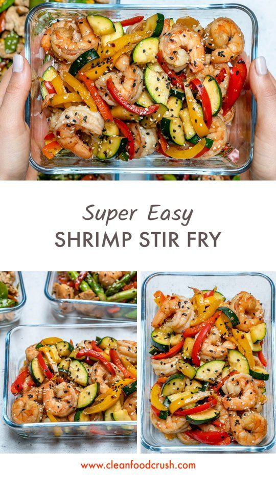Super-Easy Shrimp Stir-Fry for Clean Eating Meal Prep! - Clean Food Crush #easyshrimprecipes