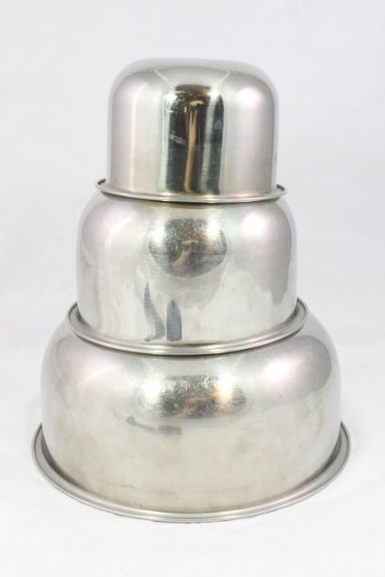 3 pc Vintage Vollrath Stainless Steel Mixing Bowls Nesting in Mixing ...