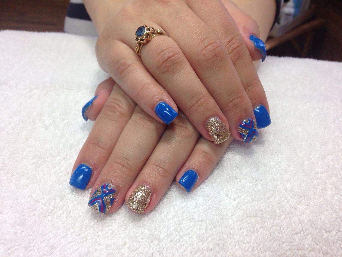 Light Elegance Blue and Gold Glitter