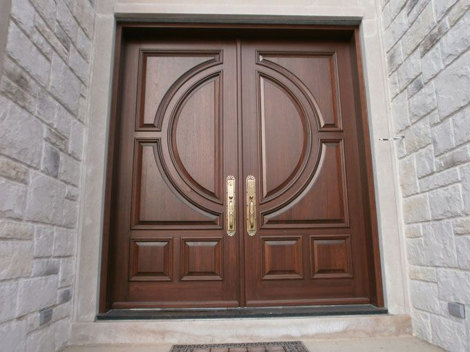 Wooden entry door portes d 39 entr e en bois www for Double porte entree