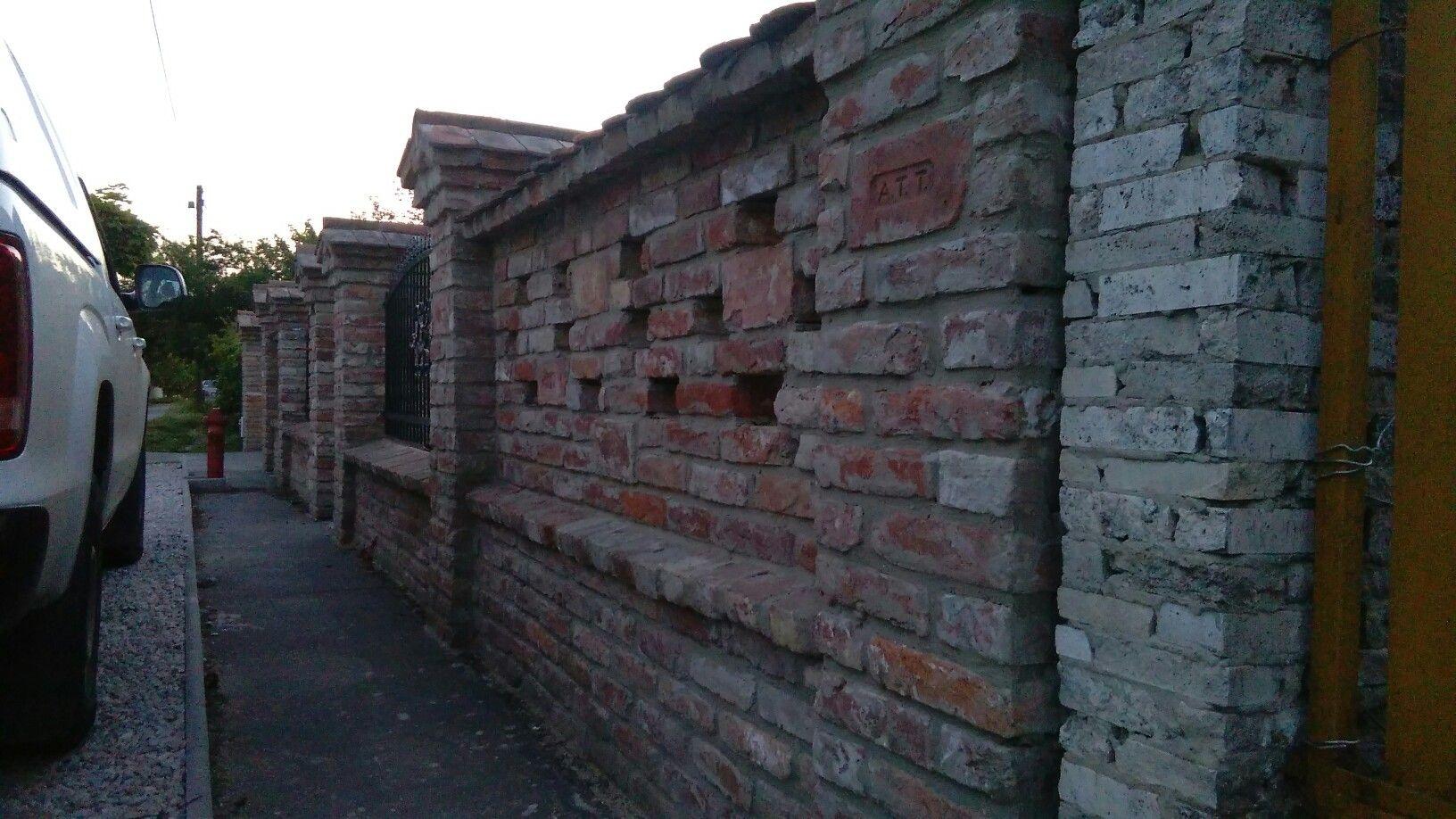 Beautiful reclaimed brick fence backyard fences brick