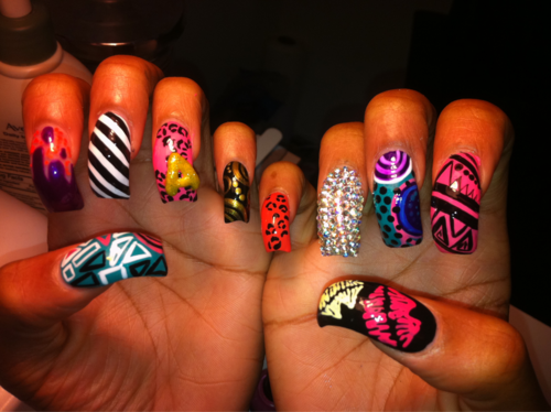 Ecards LIPS LIKE $UGA art, nails art, dope, long nails, pink. Ghetto Nail  DesignsCrazy ... - Ecards LIPS LIKE $UGA Art, Nails Art, Dope, Long Nails, Pink, Nail