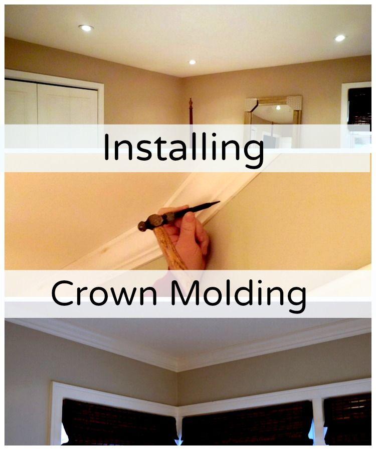 Installing crown molding in the master bedroom. www.chatfieldcourt ...