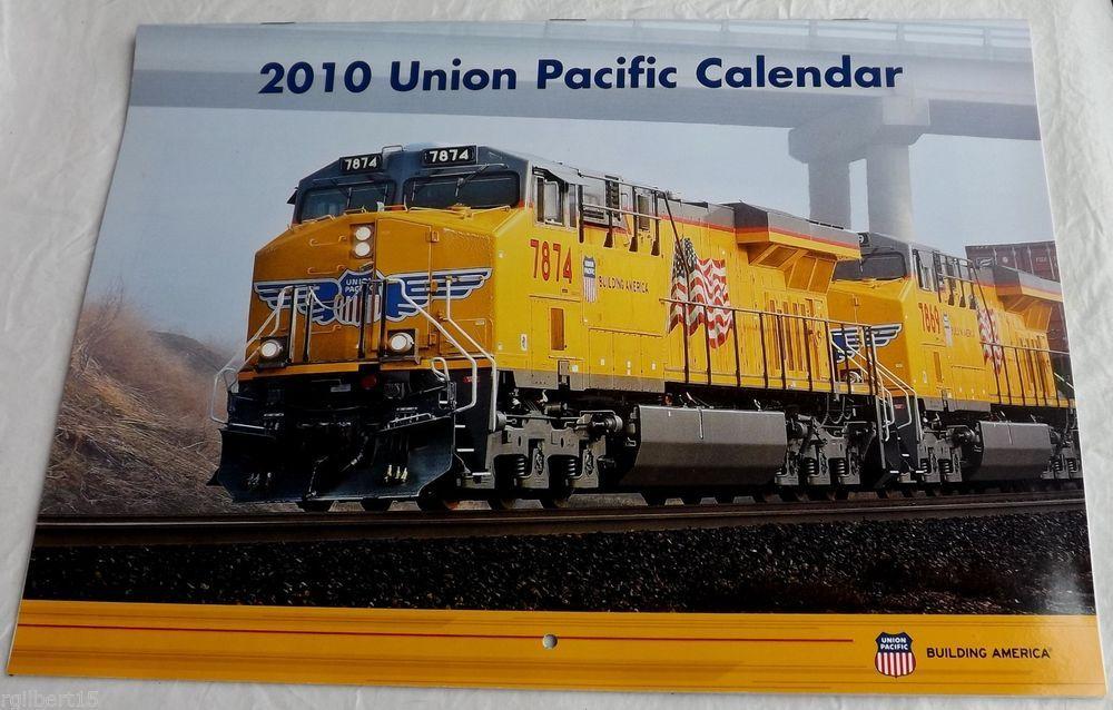 2010 Union Pacific Calendar Railway Railroad Color Scenic Travel Photos