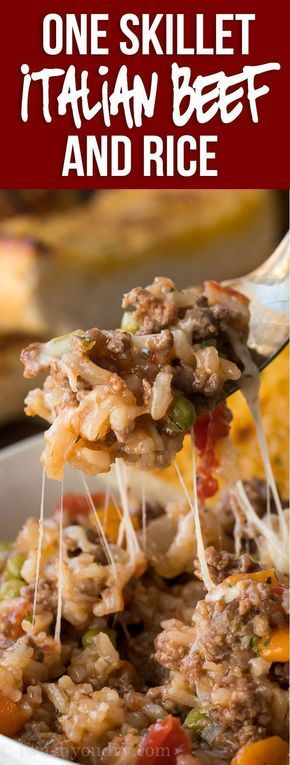 Italian Beef and Rice Skillet images