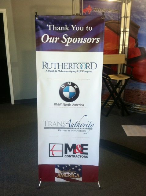 This X Banner Stand Is Just One Piece Of The Sponsor