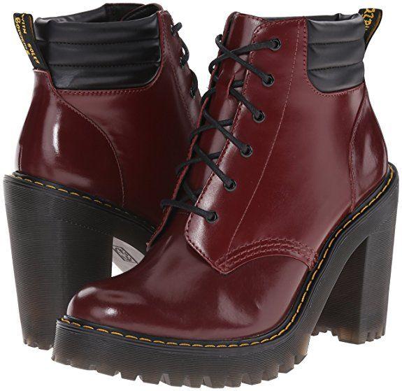 2333d634e03 Dr Martens Women s Persephone Leather Padded Collar Heeled Boot Shiraz   Amazon.de  Schuhe   Handtaschen