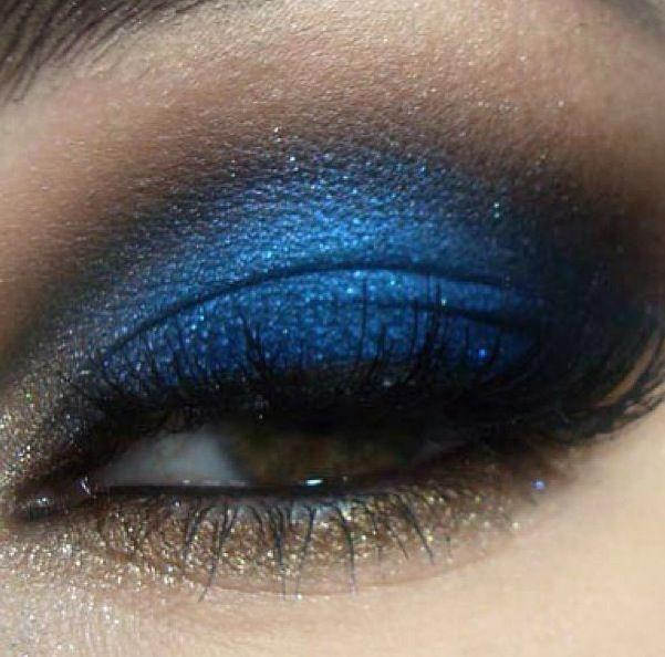 Paixão declarada por make azul!