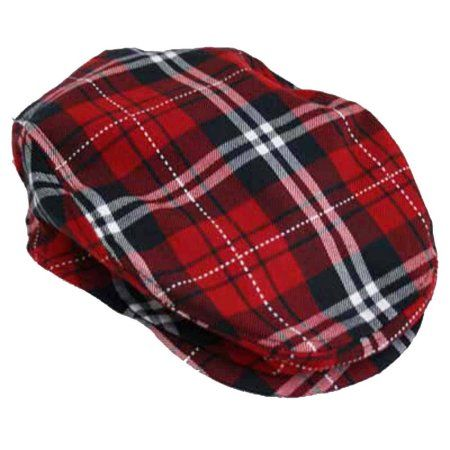 8652f74baa9  16.99+ FREE shipping Luxury Divas Red Navy   White Plaid Snap Front Ivy  Beret Cabbie Hat