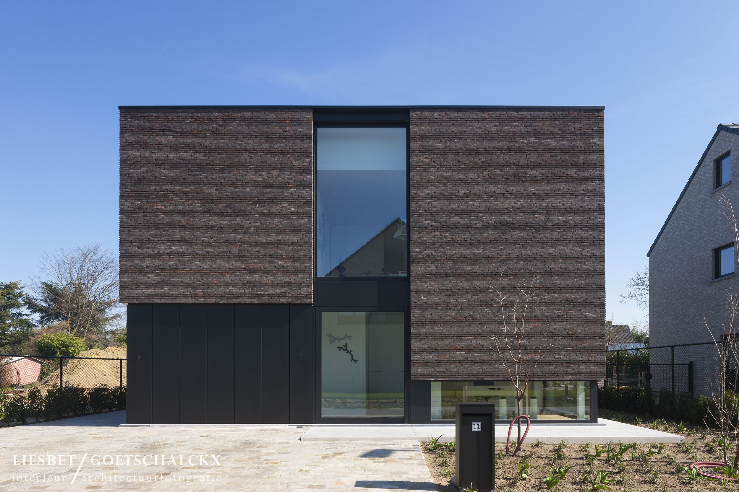 Vlakkenspel Gevel Woning Moderne Architectuur Woning Architectuur Huis