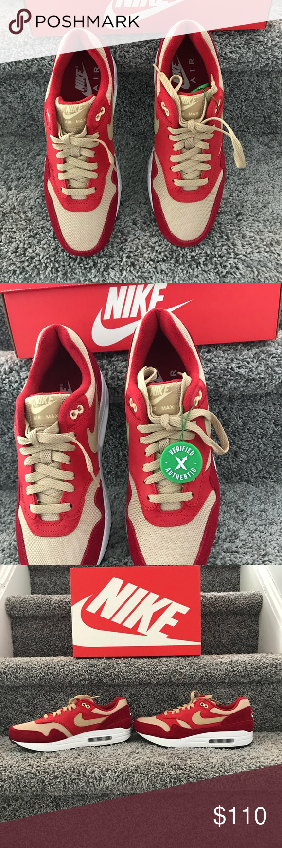 7c4ca1869e93 These are brand new, never before worn AIR Max 1 Red Curry Pack. These are  limited release and verified authentic by the Stock X shoe ...