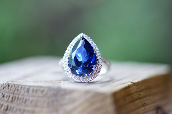 e57f790746f74 Large Sapphire Ring, Blue Sapphire Ring, Sapphire Engagement Ring ...