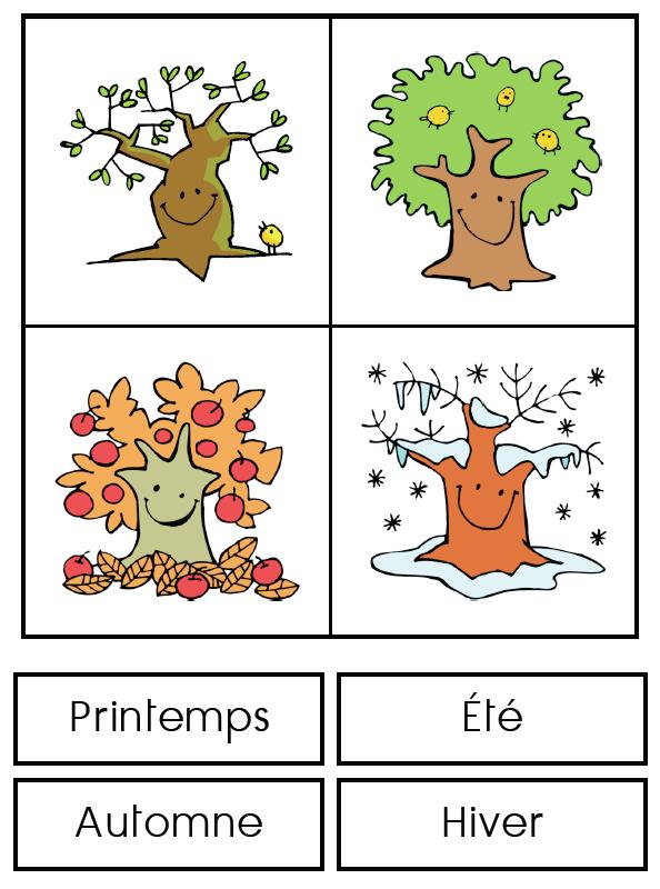 Les Saisons Affichage En Classe Saisons Maternelles Meteo Maternelle Enseignement Du Francais
