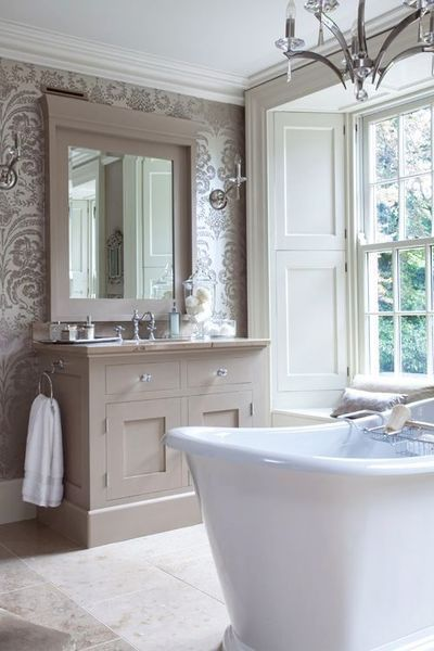 Decoration salle de bain shabby chic salle de bain pinterest salles de - Salle de bain shabby chic ...
