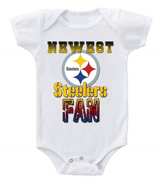 NEW Football Baby Bodysuits Creeper NFL Pittsburgh Steelers ... ca1859cbd