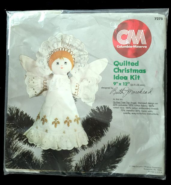Columbia Christmas Tree: TREE TOP ANGEL Quilt Kit Morehead Columbia Minerva