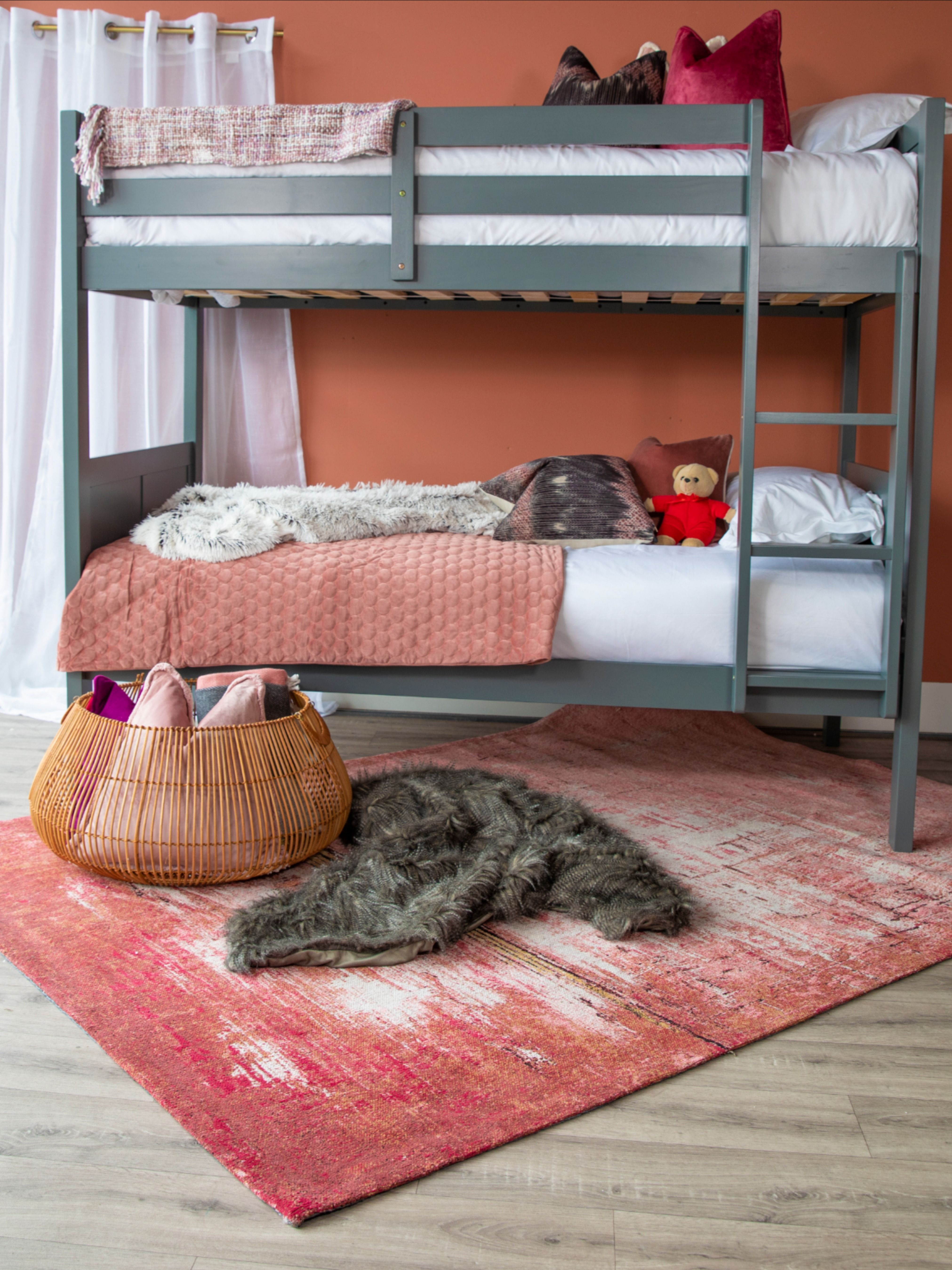 Louver Grey Single Bunk Bed In 2020 Single Bunk Bed Bunk Beds Bed
