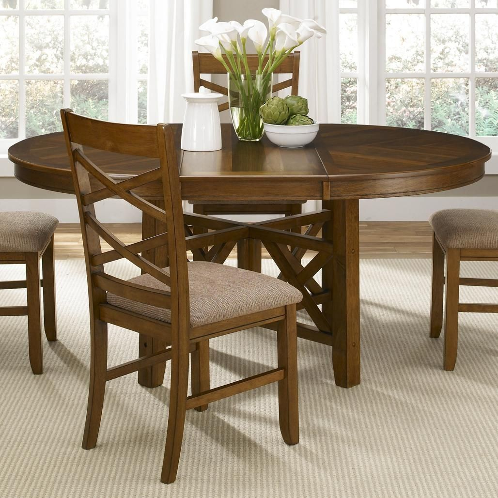 Oval kitchen table with butterfly leaf