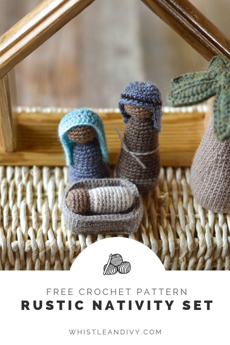 Crochet Nativity Set - Free Crochet Pattern [2019 Crochet Along] This beautiful rustic crochet nativity pattern featured 9 figures and will make a gorgeous addition to your holiday decor. This crochet nativity is beautiful decor but also perfect for little hands as well.