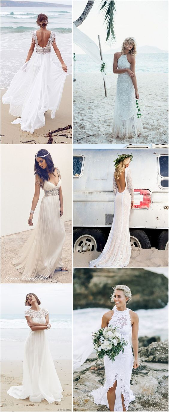 Top 22 Beach Wedding Dresses Ideas to Stand You out | Vintage ...