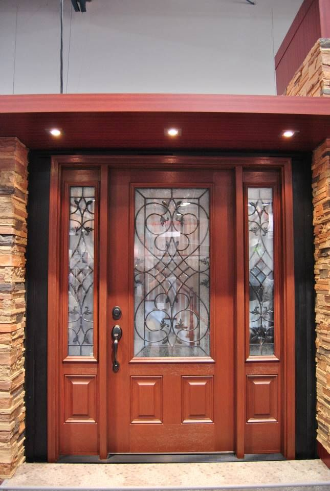 Entry Doors | Arbor Grove Collection & Clopay Arbor Grove Collection stained fiberglass entry door with ...