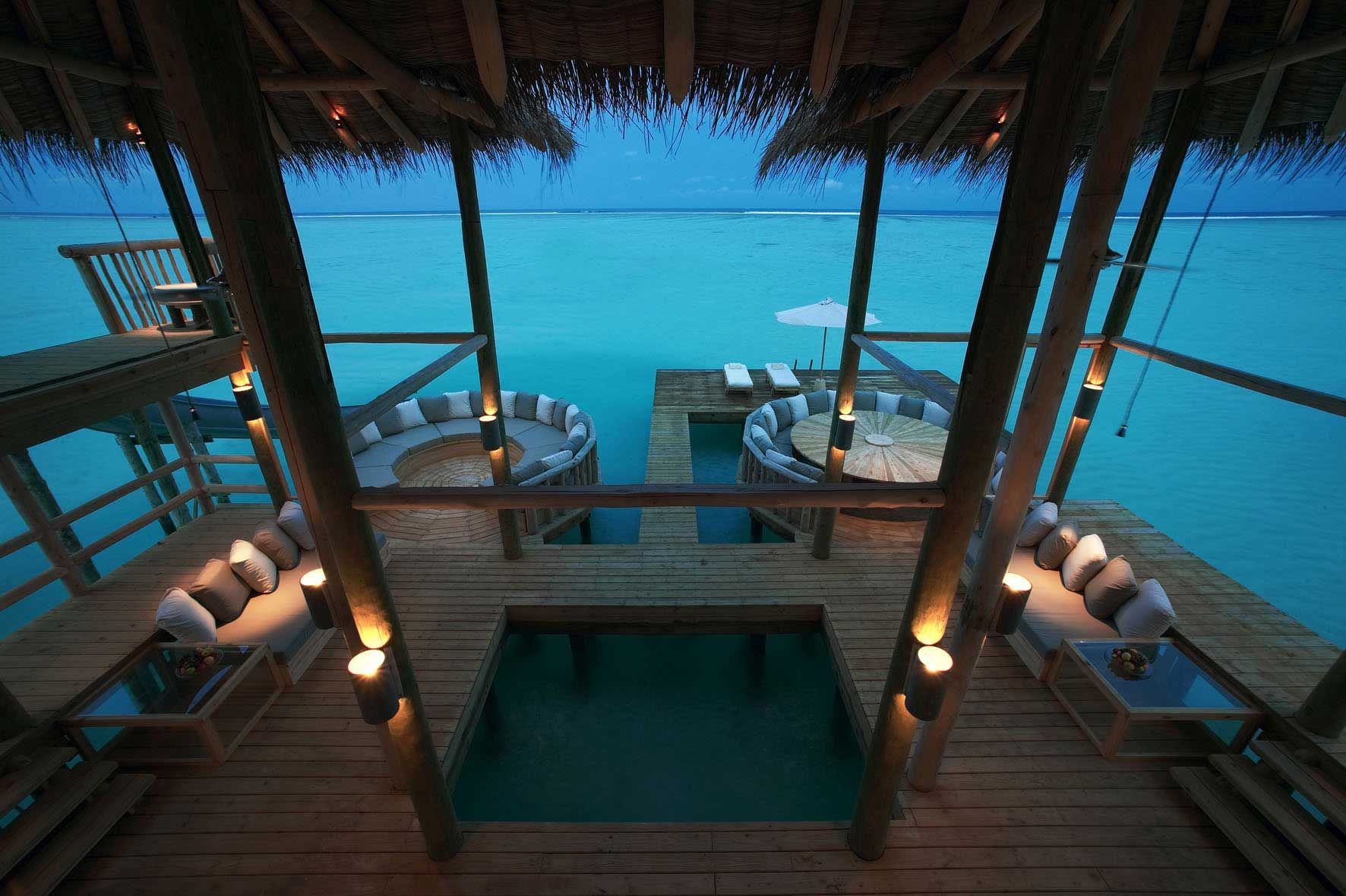 Largest private overwater bungalow in the world.