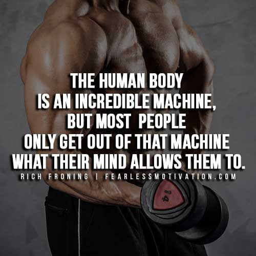 rich froning quotes - human body is an incredible machine, Muscles