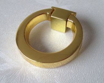 Gold Dresser Pull Knobs Drawer Knob Pulls Handles Drop Rings