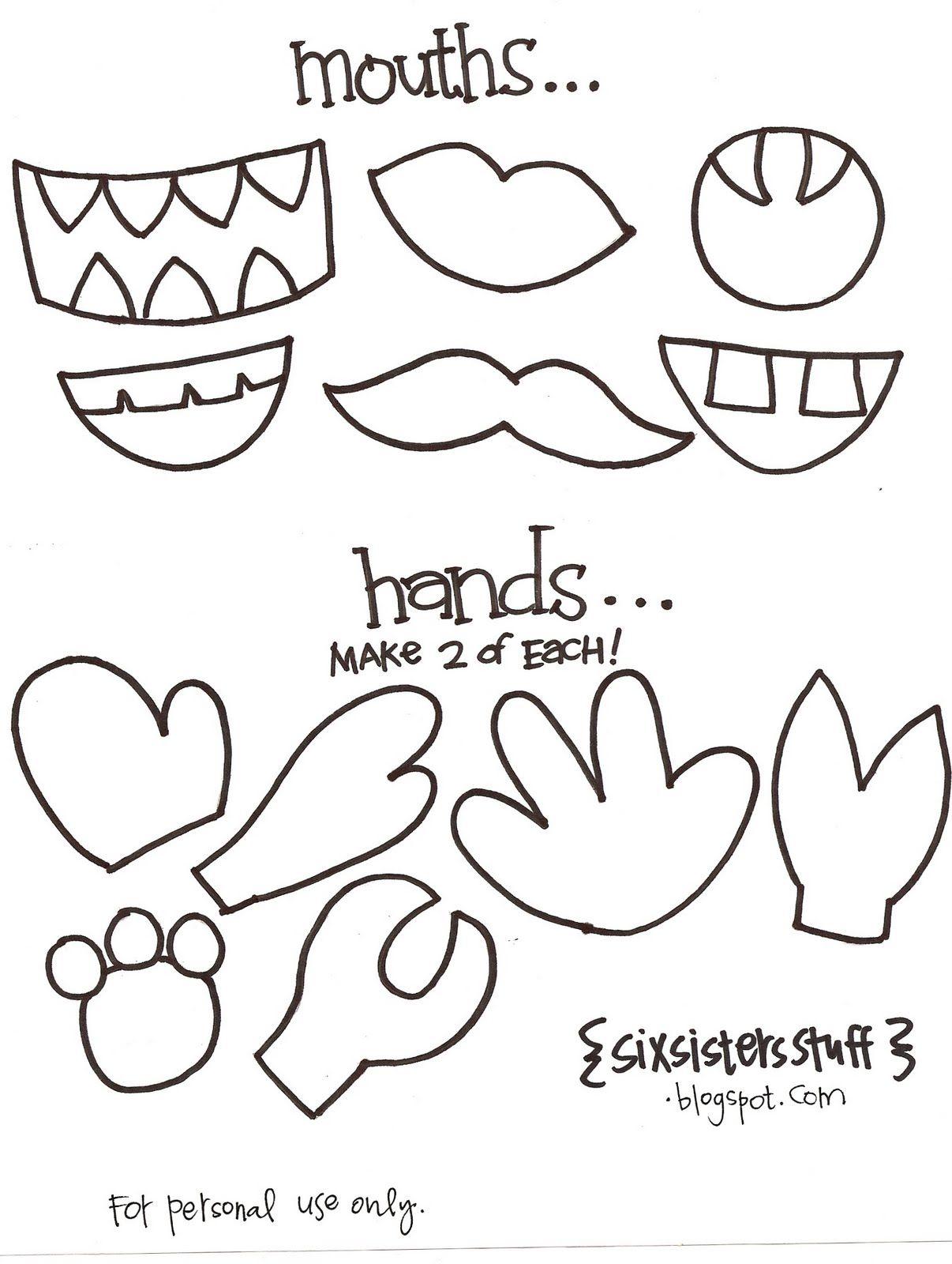 Kindergarten Printable hat templates | Paper Bag Puppets Crafts ...