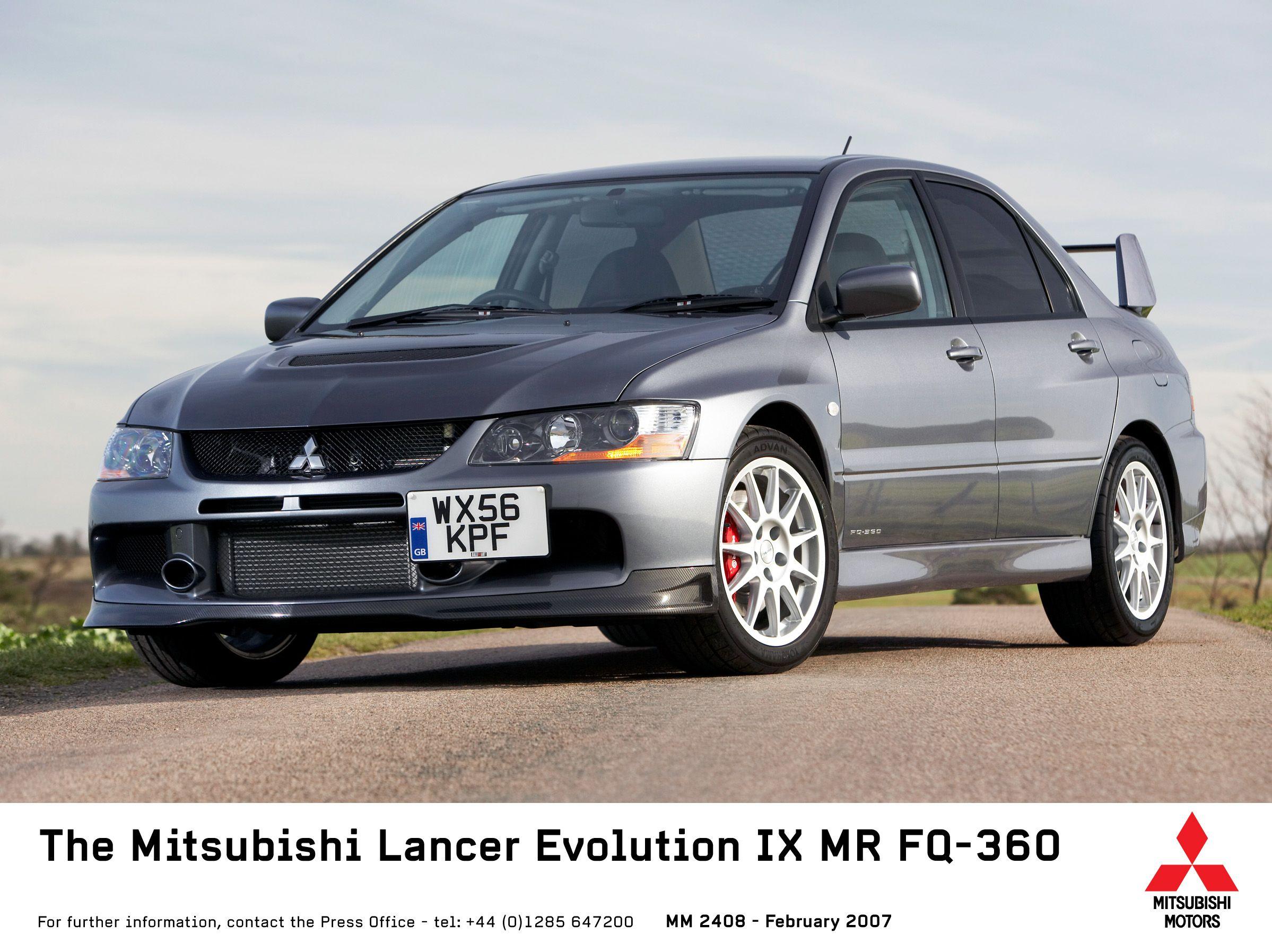 2007 Mitsubishi Lancer Evolution IX MR FQ-360 Mitsubishi Lancer Evolution, Parts  Catalog,