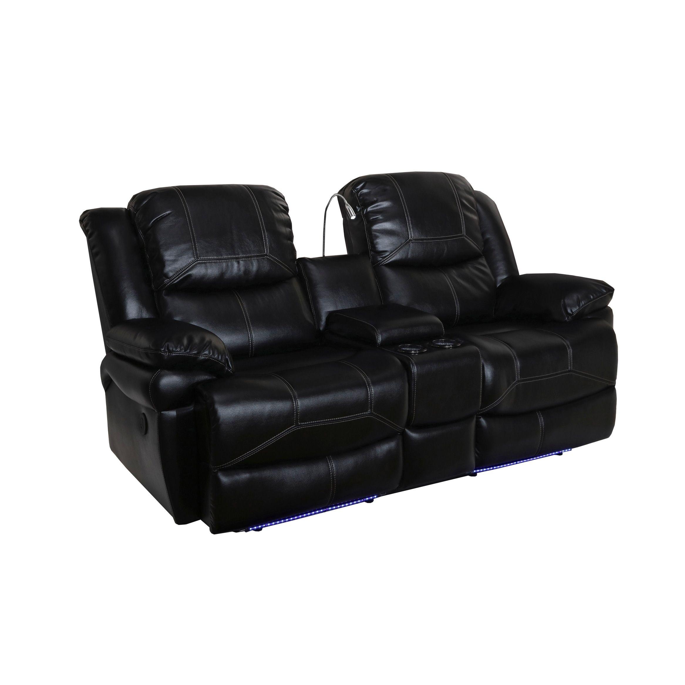 Magnificent Flynn Premier Black Power Motion Dual Recliner Console Creativecarmelina Interior Chair Design Creativecarmelinacom