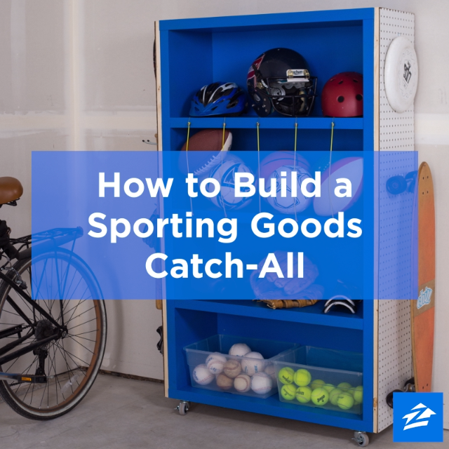 Build a DIY Sporting Goods Holder to Keep Your Garage